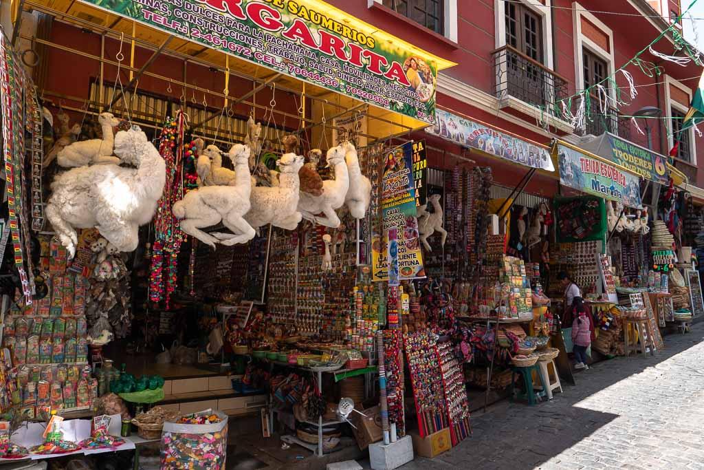 La Paz tote Lama Babys Hexenmarkt