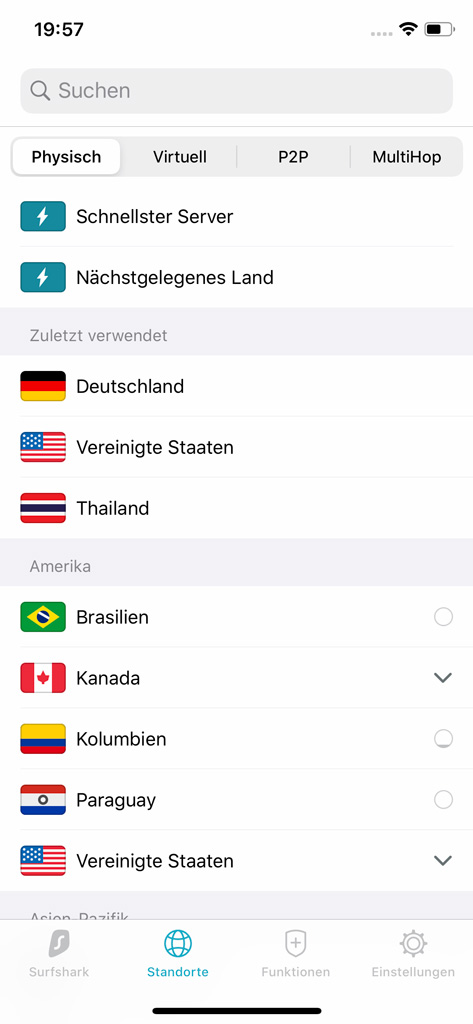 iPhone Surfshark VPN App