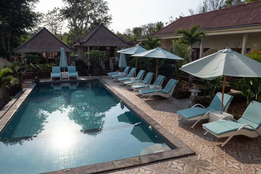 Pool Bali Nusa Cottages Nusa Lembongan Unterkunft
