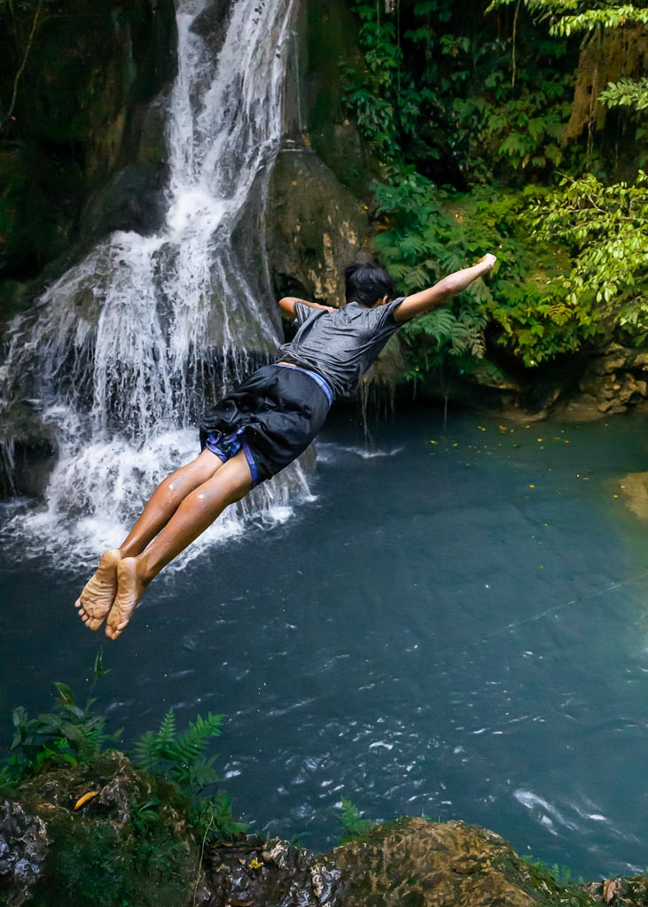 Cambais Falls Cebu Canyoning Klippenspringen