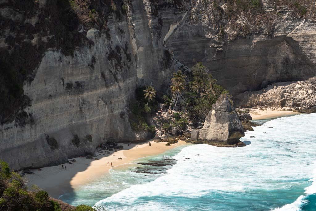 Nusa Penida Baumhaus Dreamland Beach Aussicht