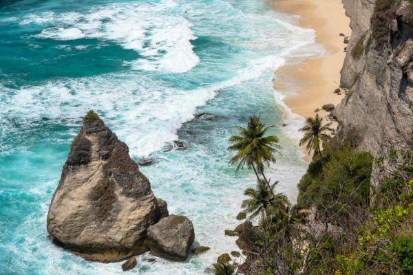 Nusa Penida Sehenswürdigkeiten Dreamland Beach Foto