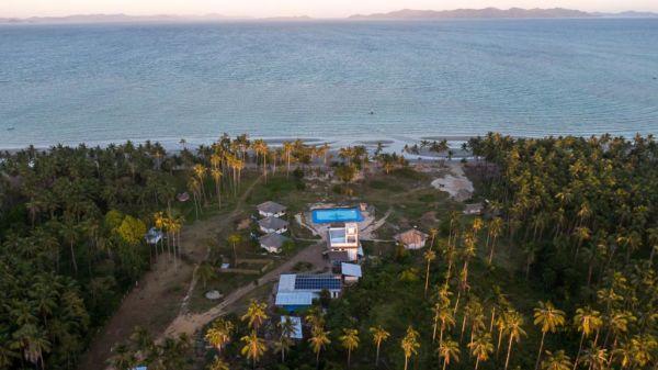 Unterkunft Eastwind Beach Club El Nido Sonnenuntergang