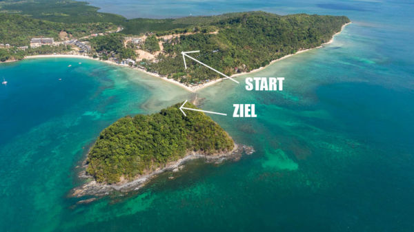 El Nido Ziplining Start und Ziel Depeldet Island
