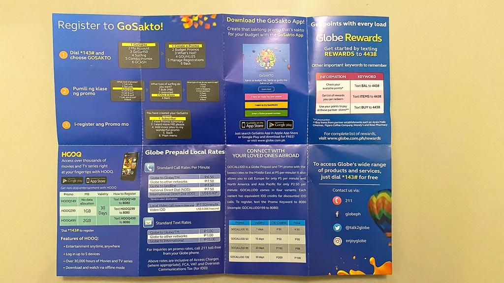 mobile Daten mit Globe Philippinen Sim-Karte