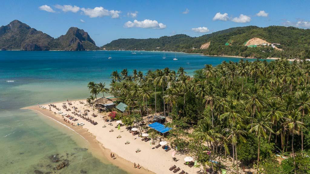 El Nido Drohne Las Cabanas Beach Aussicht
