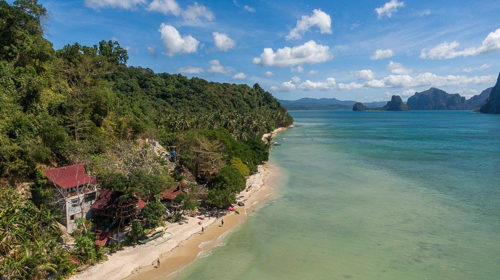 El Nido Sehenswürdigkeiten Las Cabanas Beach