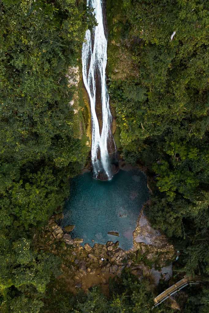 Cebu Sehenswürdigkeiten Montpellier Wasserfall