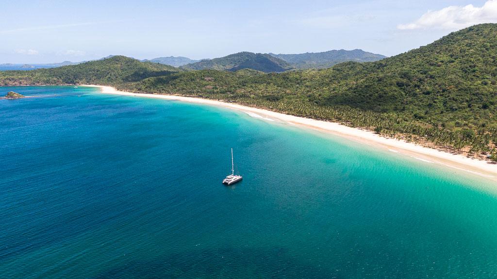 Nacpan Beach Drohnenaufnahme El Nido