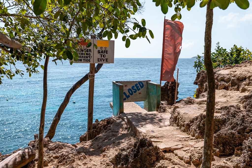 Sprungbrett Salagdoong Beach Siquijor