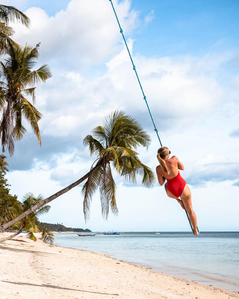 Seilschaukel Solangon Beach