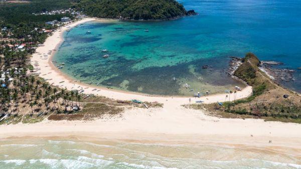 Twin Beach El Nido Drohnenaufnahme