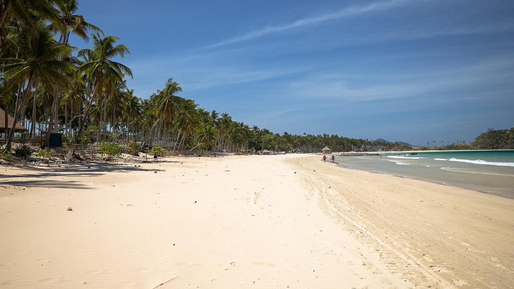 Nacpan Beach El Nido langer Strand
