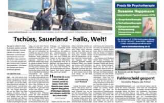 Sauerland Kurier Life to go Weltreise Bericht 2021 Januar