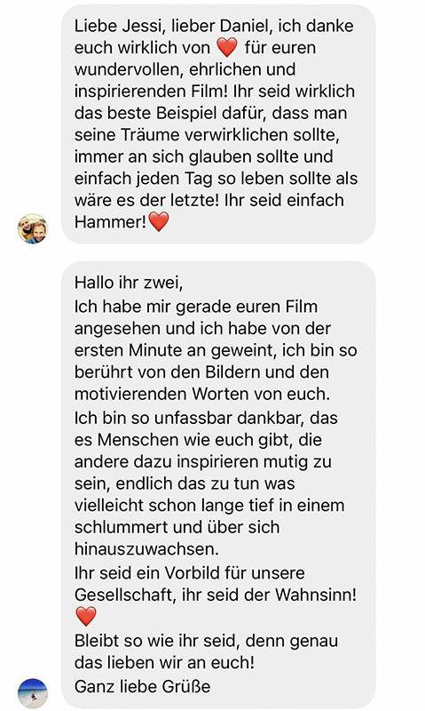 Bewertung Weltreise Film Life to go